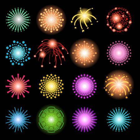 red light district: Beautiful Fireworks Set