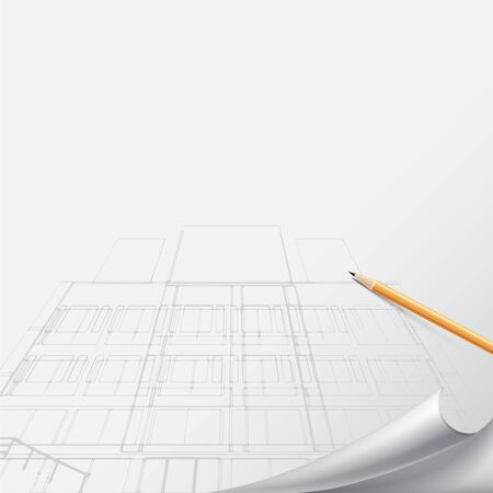 architectural drawing: Architectural background for architectural project, architectural brochure, technical project, architectural drawing.