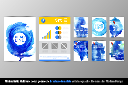Abstract hand made brochure template.