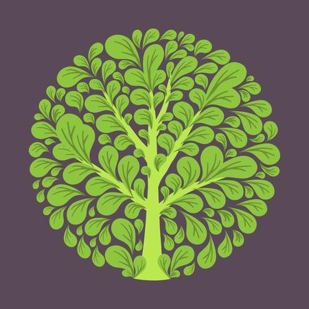 Arbre logo modèle. Belle carte de l'arbre ou de fond. Banque d'images - 47866401