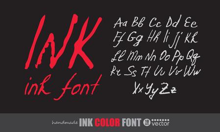 alphabet graffiti: Handwritten ink font.
