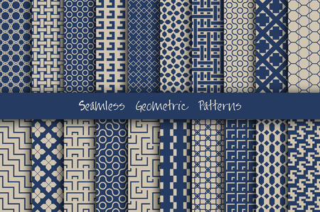 pattern seamless: Seamless Geometric Patterns Set.
