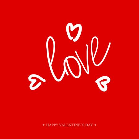 Tarjeta de felicitación del día de San Valentín de la caligrafía. Mano di manuscrita Elementos de diseño. Diseño de letras.