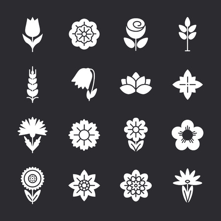 nail salon: Flower icons set. Modern Thin Contour Line. Template for Business card, Banner and Brochure.  Logos of Identity Style for Beauty Salon and Nail salon.  Flat design.