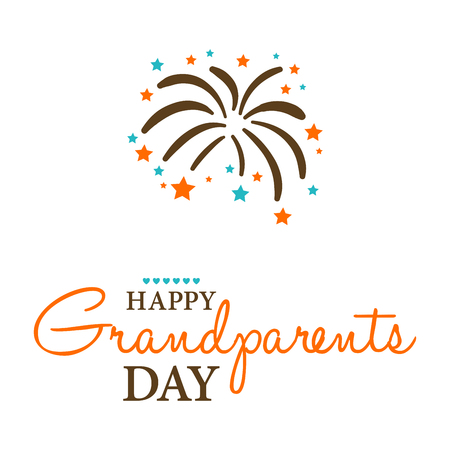 Plantilla de diseño de la tarjeta Happy Grandparents Day. Foto de archivo - 85062829