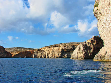 Gozo Island, Malta.Background and texture for brochure for travel and advertising agencies.