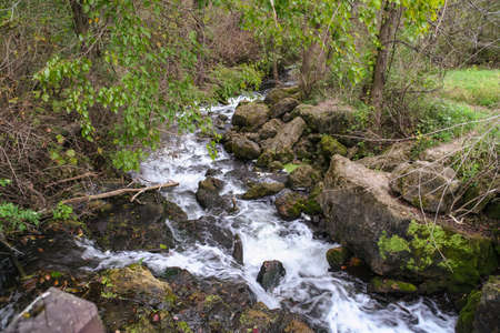 Beautiful picture a stream I came across while hiking at Governor Dodge State Park in Wisconsin. Stock fotó