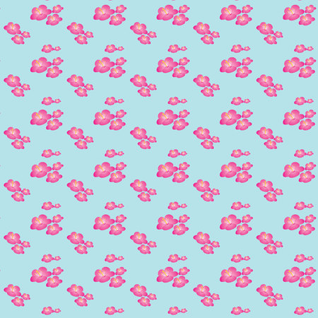 Vector illustration of a pattern with pink flowers Illustration