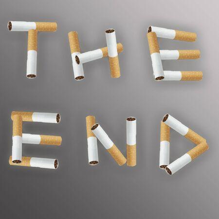 Inscription from cigarettes Stock Photo - 3059124