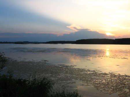 sundown above Volga river. Stock Photo - 11586405
