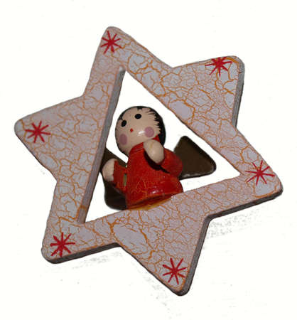 christmas decorations star angel wooden christmas toy handmade painting - Wooden Christmas Ornaments To Paint