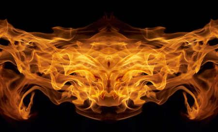 inferno face Stock Photo - 4877121