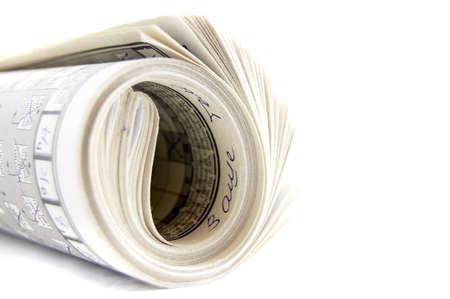 Newspaper on white Stock Photo - 5070100