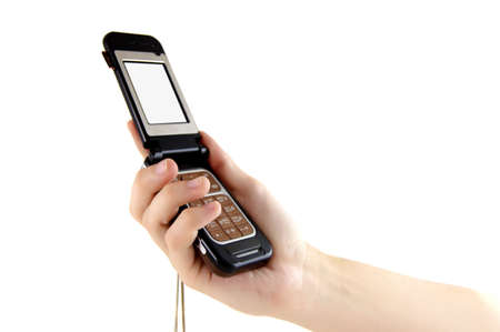 cell phone in hand Stock Photo - 5165617