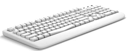 3d computer keyboard isolated on a white background photo