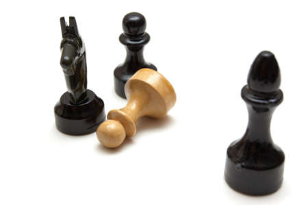chellange: Chess battle isolated on a white background