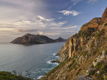 Wonderful sunset on Hout bay from Chapmans peak drive