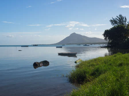 Morning light on the Mauritian coast line: paradise vision in a tropical wonderful island