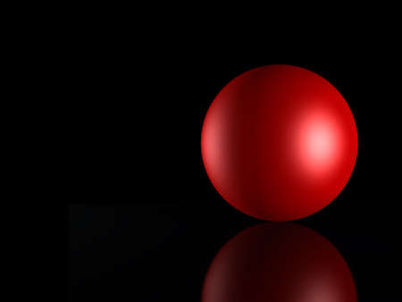 3D the image of a sphere on the varnished surface (abstract background) photo