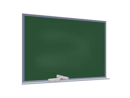 textbooks: Blackboard (projection) completely isolated on a white background