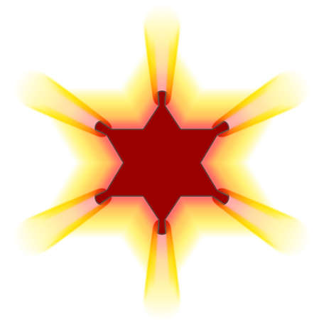 Frame Semite star - yellow motion ray (decoration) photo