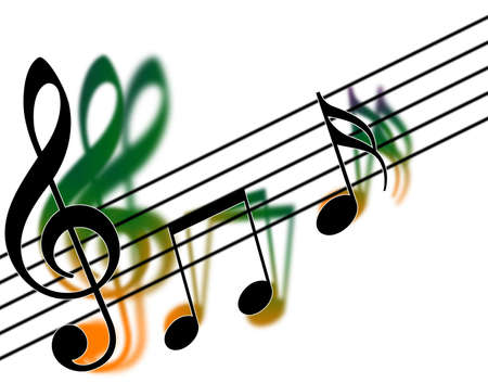 treble clef: Treble clef harmony (musical) Stock Photo
