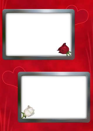 congratulatory: Background congratulatory (size �4 300dpi) with a framework under a photo 2x(10�15sm__ 3x5inch)  Stock Photo