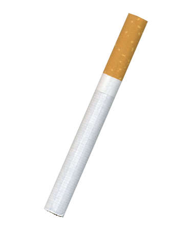 extreme close up: Natural cigarette with the filter (very high sanction) Stock Photo