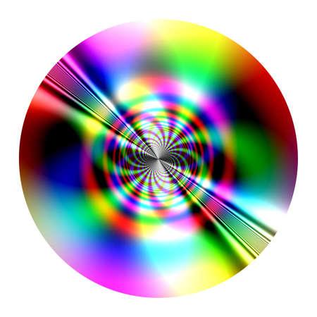 Fantastic disk (fractal) similarity of CD, DVD - isolated Reklamní fotografie