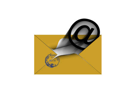 outcoming: To you the letter. (outcoming letter Email)  Stock Photo
