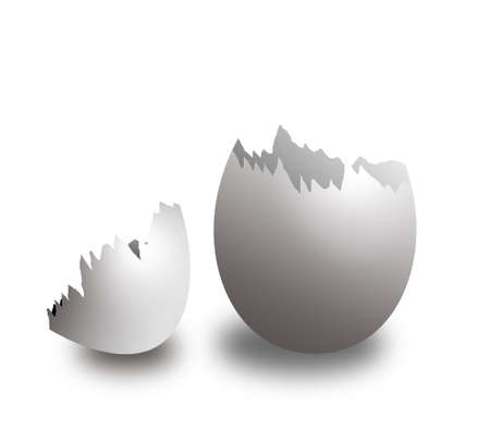 Egg with the broken away top part (the isolated egg shell) Stock Photo - 1745815