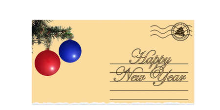 postoffice: The congratulatory christmas letter (the message with congratulations happy New Year)