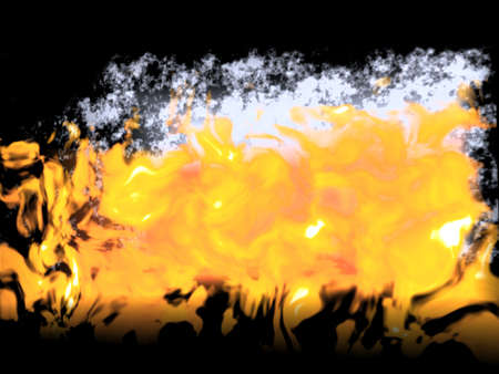 Fire and smoke abstract on a black background  photo