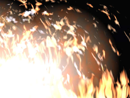 hades: Continuous fire - a fire - on a black background (is isolated)