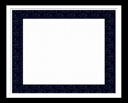 matting: Classical black framework under a photo isolated on a white background