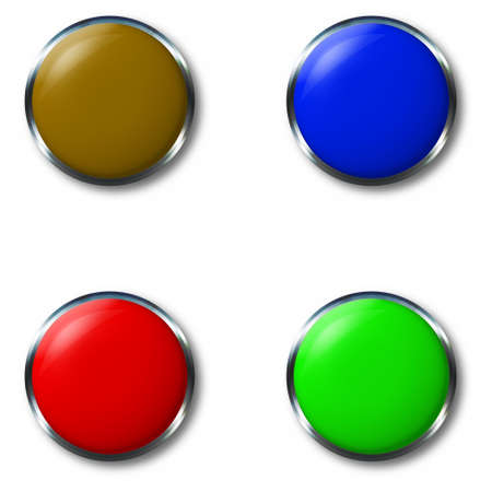 substrate: hrome button (for use as a substrate of the button) Stock Photo