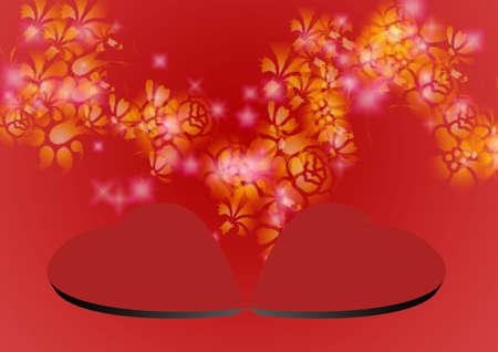 shone: Red background with 3D ñðåäöåì and dispersion of celebratory shone asterisks