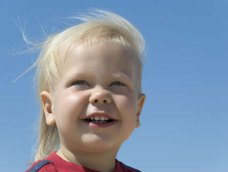 The blue-eyed boy - the blonde. Age - 2 years Stock Photo - 1761768