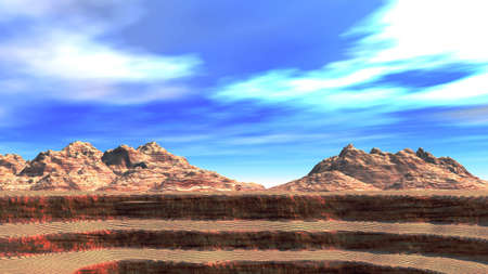 exultation: The Grand Canyon on a background of mountains (a photo 16:9)
