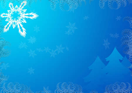 rime: Background on a theme - Christmas and New Year with decorative elements (fool size A4 horizontal) Stock Photo