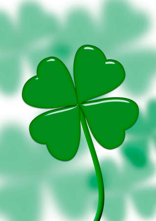 leaves clovers on stalks (effect blur background) Stock Photo - 1754524