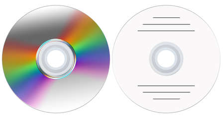 Disk from two parties for creation of the further composition (advertising, music, video) Stock Photo