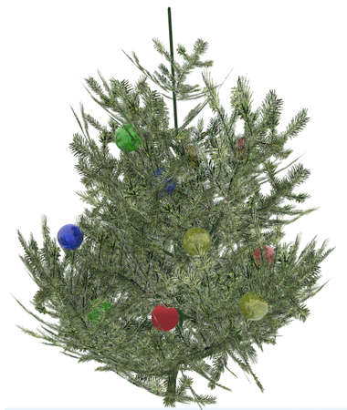 bleak: Christmas fur-tree with elements of toys (computer simulation)