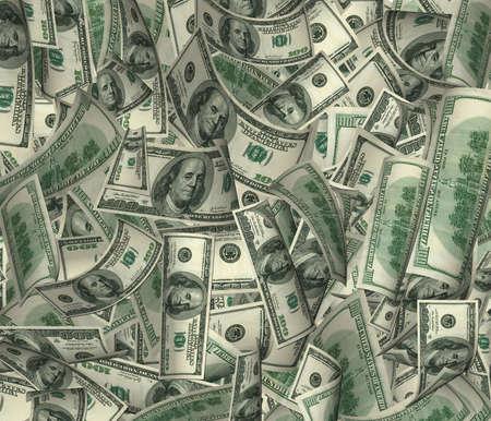 dinero volando: Es un mont�n de dinero (de un billete de d�lar en una ca�tica cita previa)