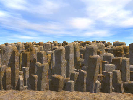 bretagne: Stones of the rectangular form on a background of the blue sky