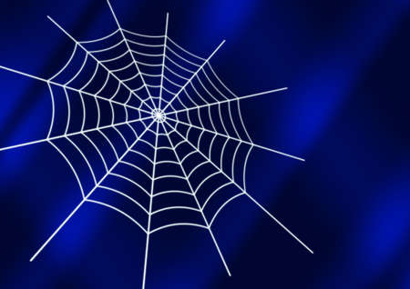 spider web with luminous strings on a stylish background (in file save contours of a web )