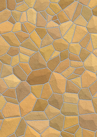 extreme close up: Wall from a natural stone (a structure with not correct geometry) Stock Photo