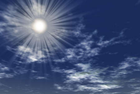 Beams of the sun passing through clouds Stock Photo - 1754551