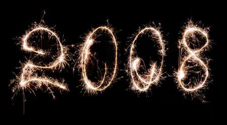Inscription - 2008 made by celebratory fireworks