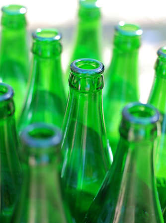 degradation: Bottle. Empty bottles from under beer, with effect of degradation Stock Photo